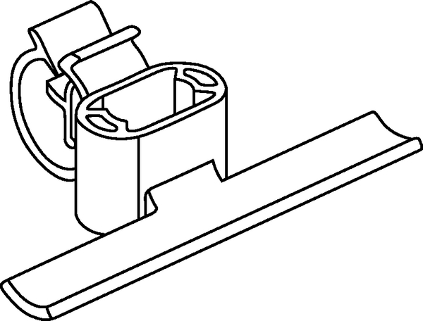 bundling clips for weld studs  movable  with harness clip