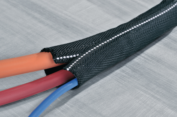 Self Closing Flame Retardent Polyester Sleeving Twist In