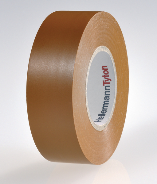 BROWN ELECTRICAL PVC INSULATION INSULATING TAPE 19mm x 20m FLAME RETARDANT