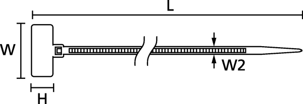 identification ties and plates for marking cable bundles