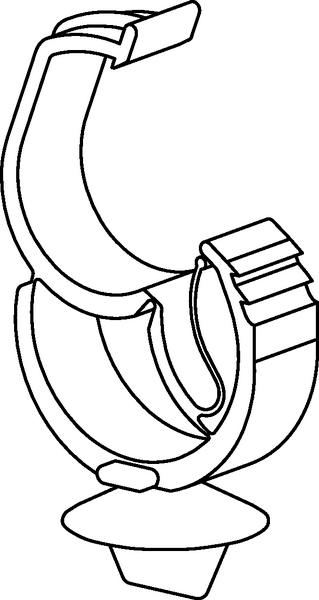 Befestigungselemente für Leitungen, selbstverschließend AHC2BH (151 ...