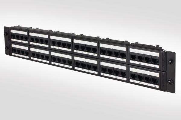 cat5e unshielded 48 port panel 2  4808idcg5e  bk  853