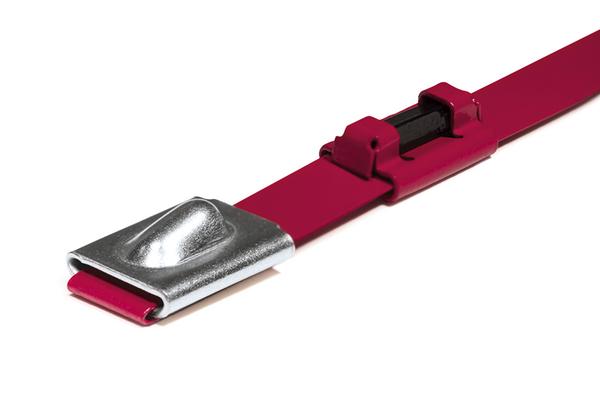 MBTRFID – Edelstahlkabelbinder mit RFID-Transponder für die Produktidentifikation in rauen Umgebungen.