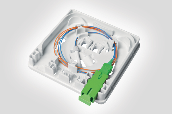 Cable Wall Outlet : Fibre wall outlet with pre terminated internal connecting cable fwoa
