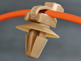 2-Pieces Cable Ties with fixing elements with Arrowhead, with Disc